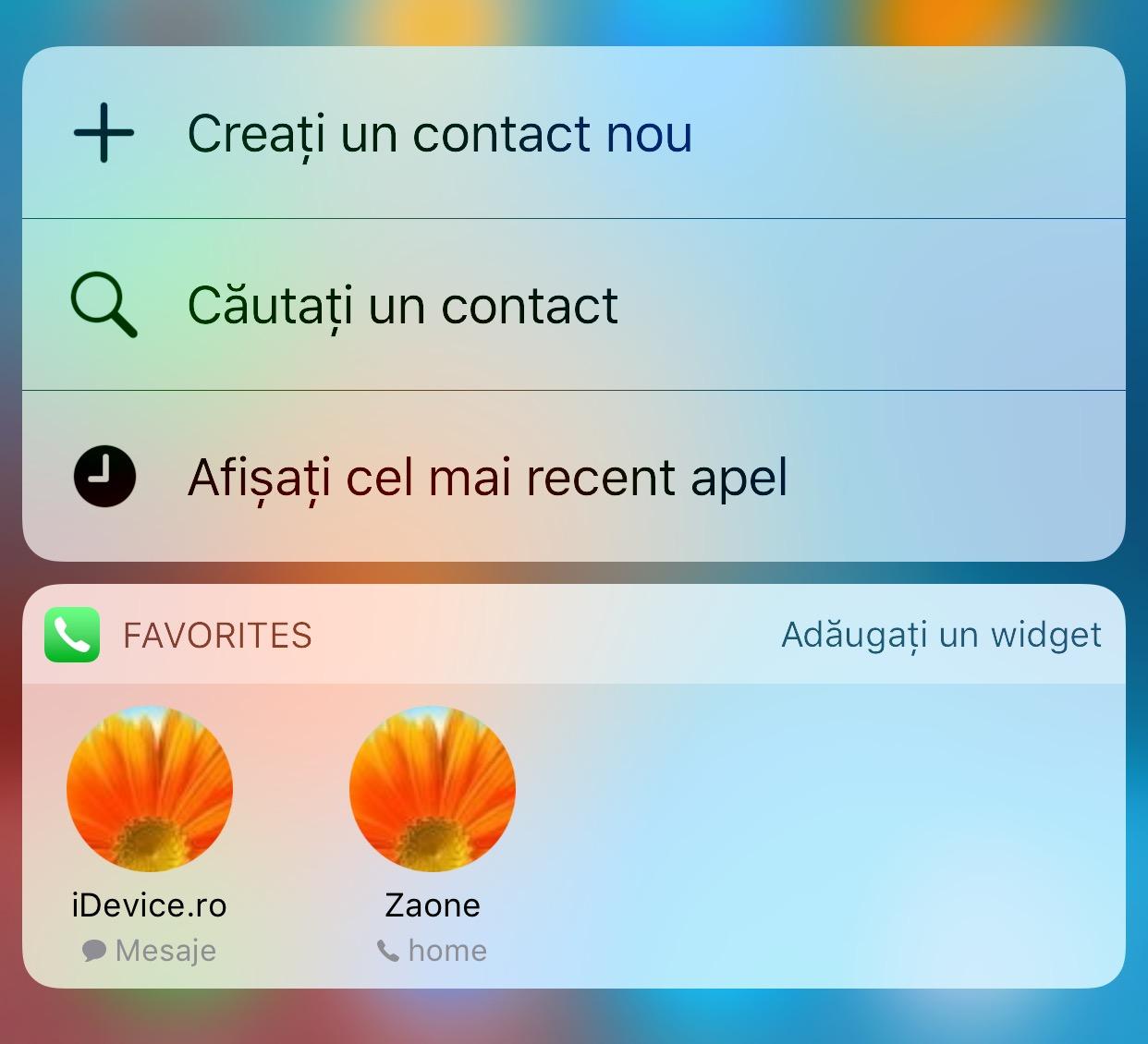 widget aplicatii iOS 10