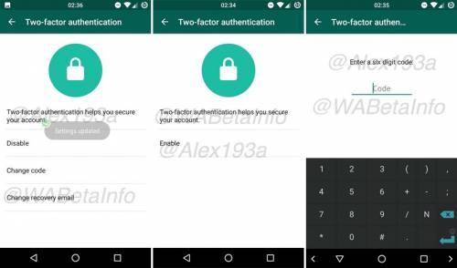 WhatsApp autentificare 2 pasi