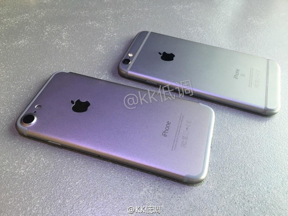 carcasa iPhone 7 comparatie iPhone 6S