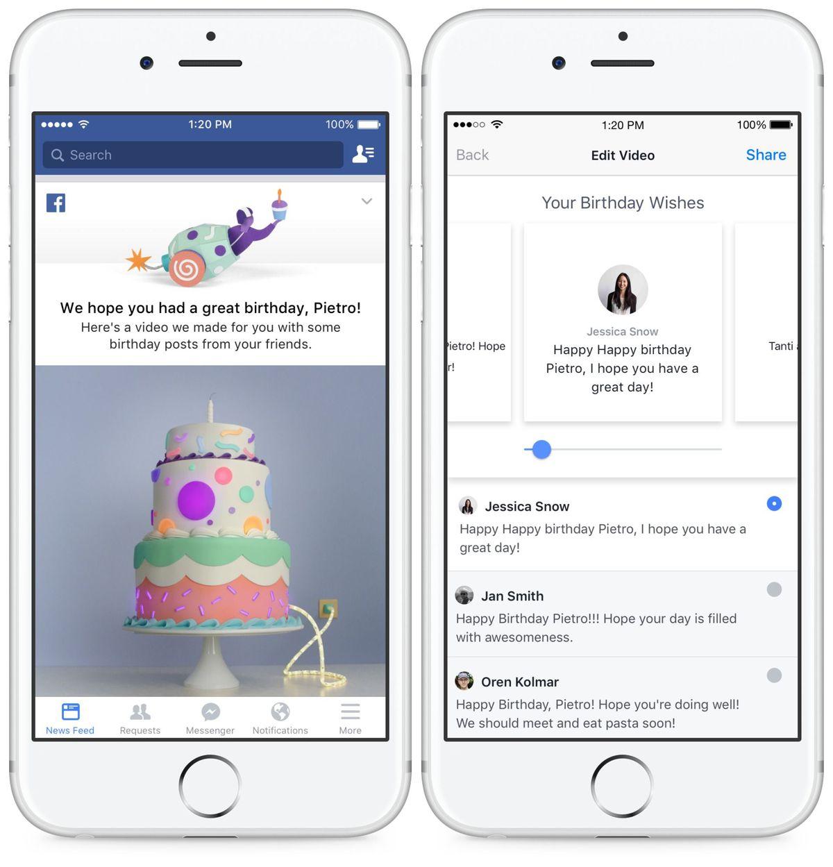 facebook zi de nastere