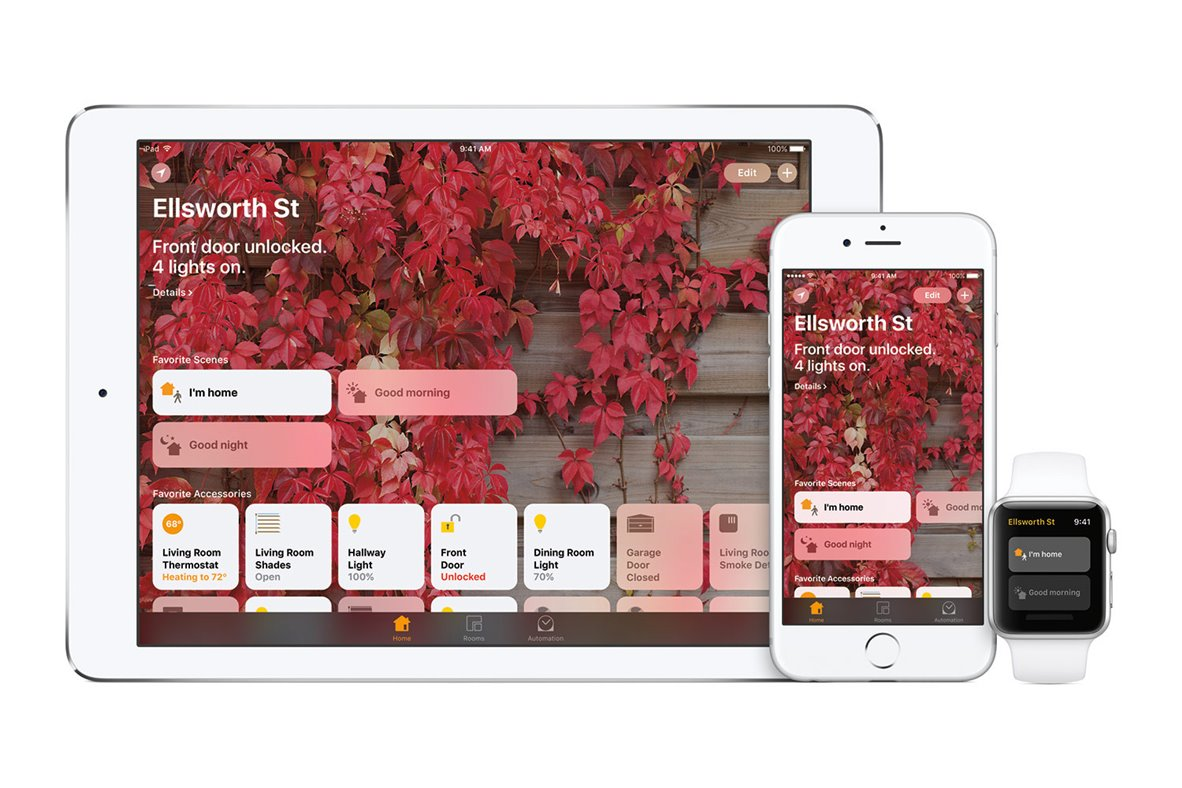 ios 10 Home app wall