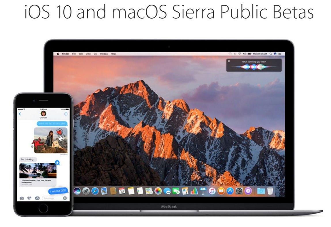 ios 10 macos public beta 1