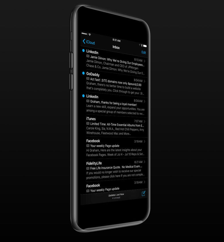 iphone 7 negru spatial dark mode 1
