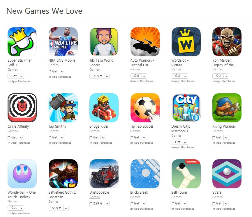 new games love we