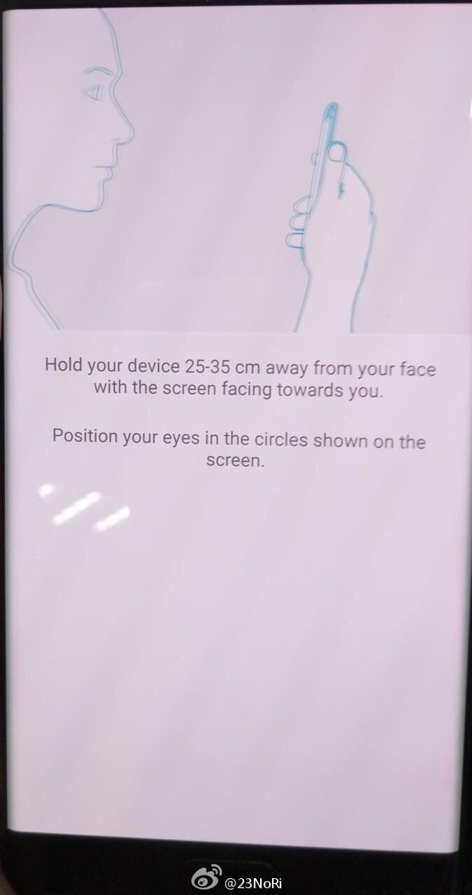 scanare iris Samsung Galaxy Note7 1