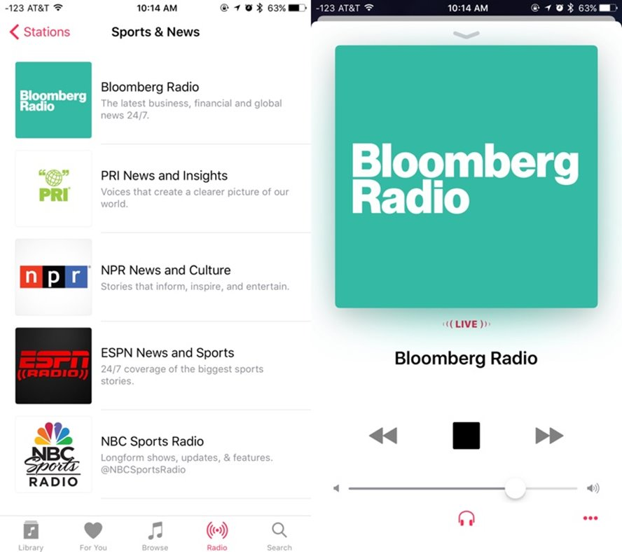 Bloomberg Radio Apple Music