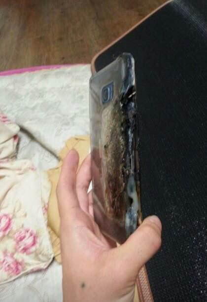 Galaxy Note 7 explodat 1