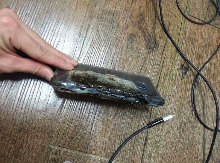 Galaxy Note 7 explodat 2