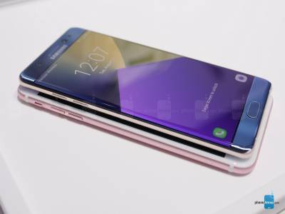 Galaxy Note7 vs iPhone 6S Plus 8