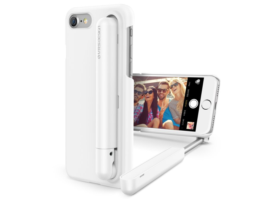 iphone 7 carcase cu selfie stick incorporat. Black Bedroom Furniture Sets. Home Design Ideas