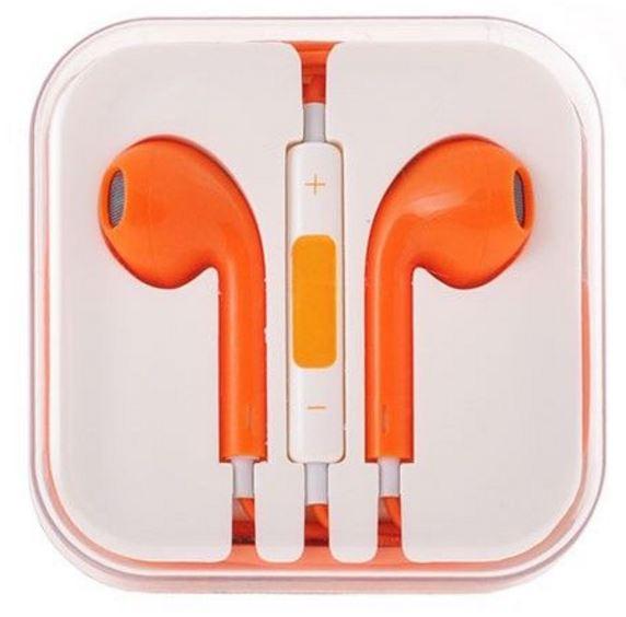 reducere la casti iphone earpods portocalii