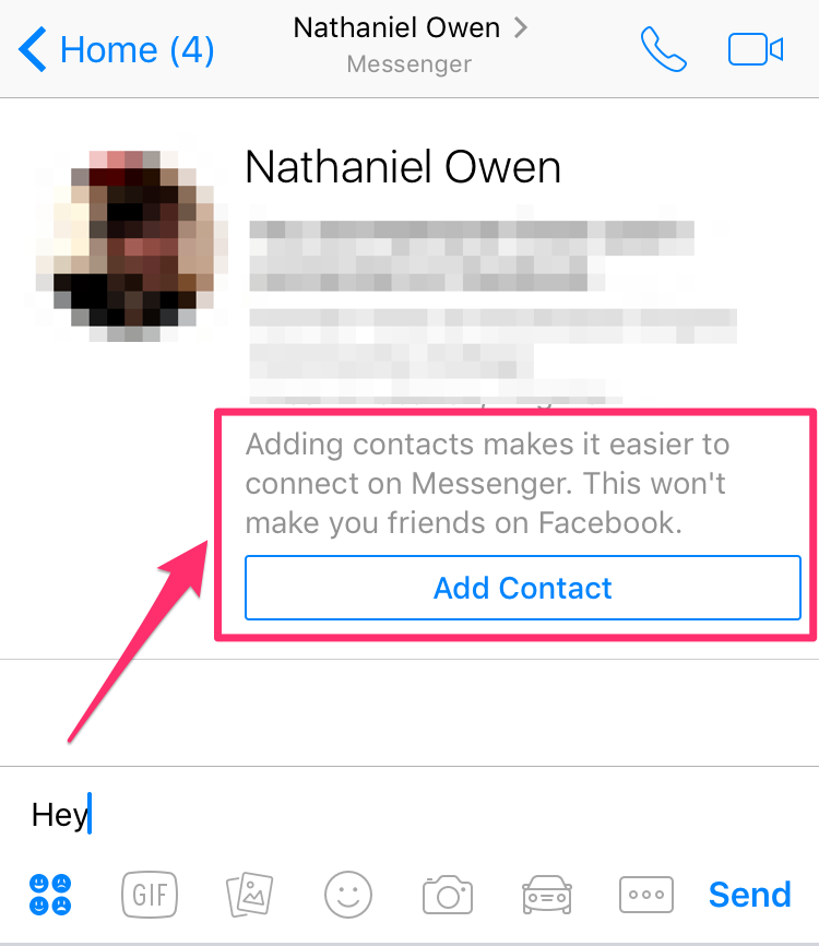 facebook messenger adaugare contacte