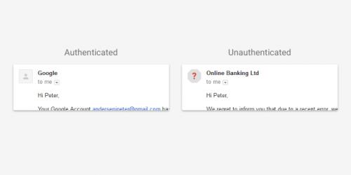 google avertisment email