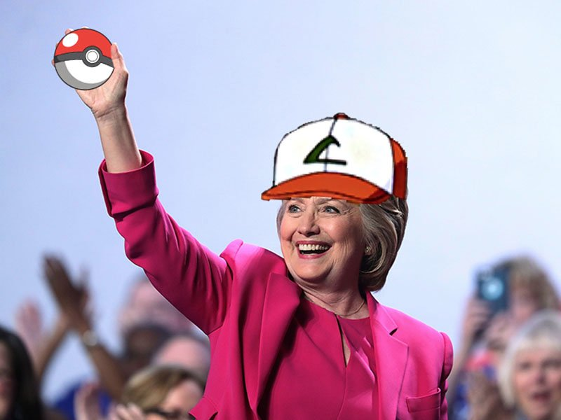 hillary clinton pokemon GO