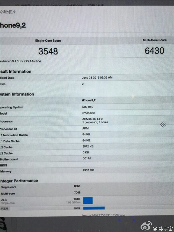 iPhone 7 Plus benchmark