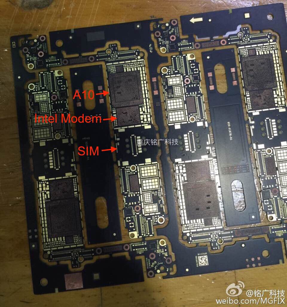 iphone 7 placa baza modem intel
