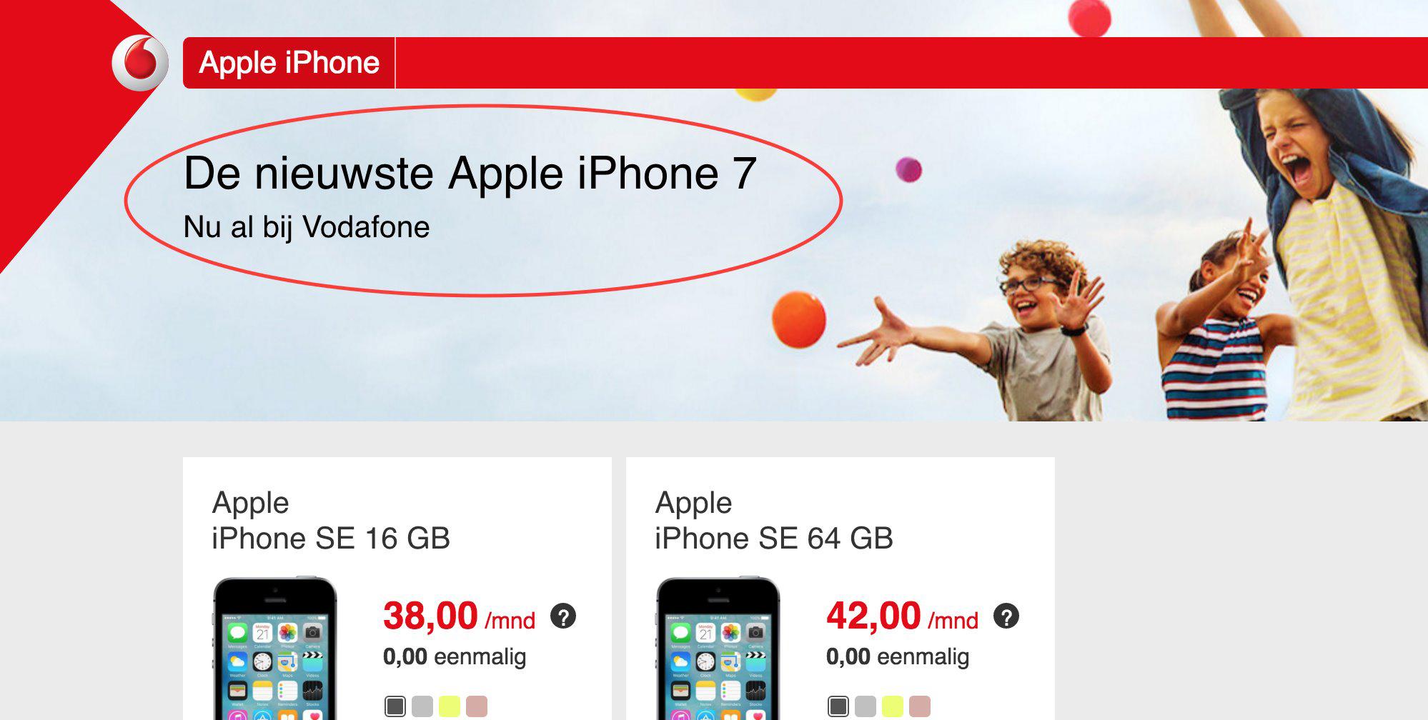 iphone 7 vodafone