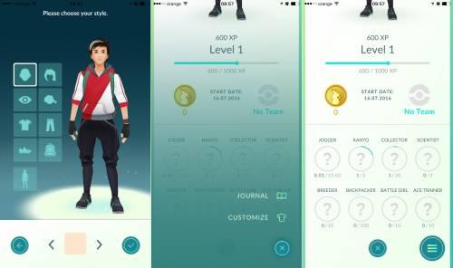 personalizare avatar pokemon go