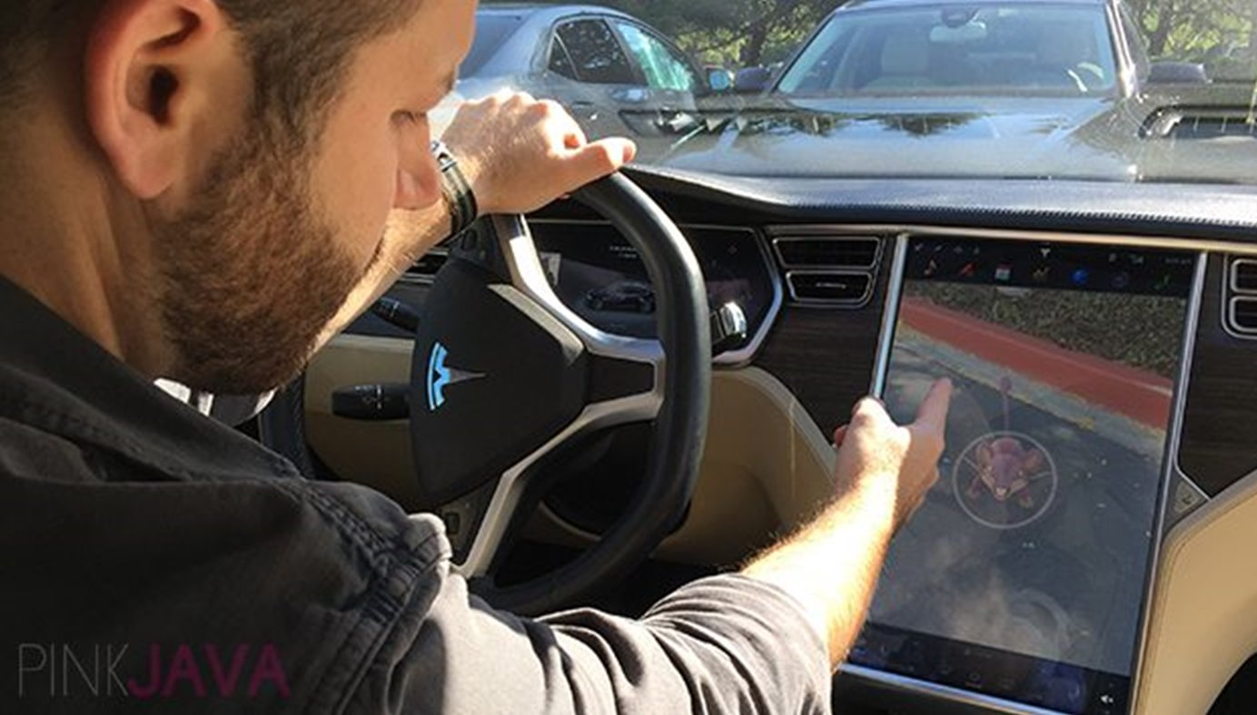 pokemon go tesla model s