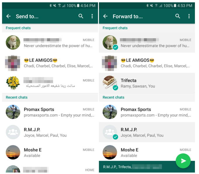 whatsapp partajare mesaje chats
