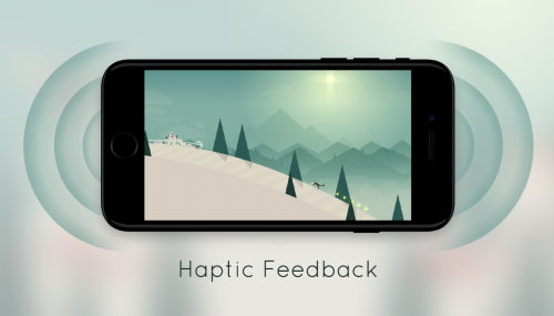 alto adventure haptic feedback