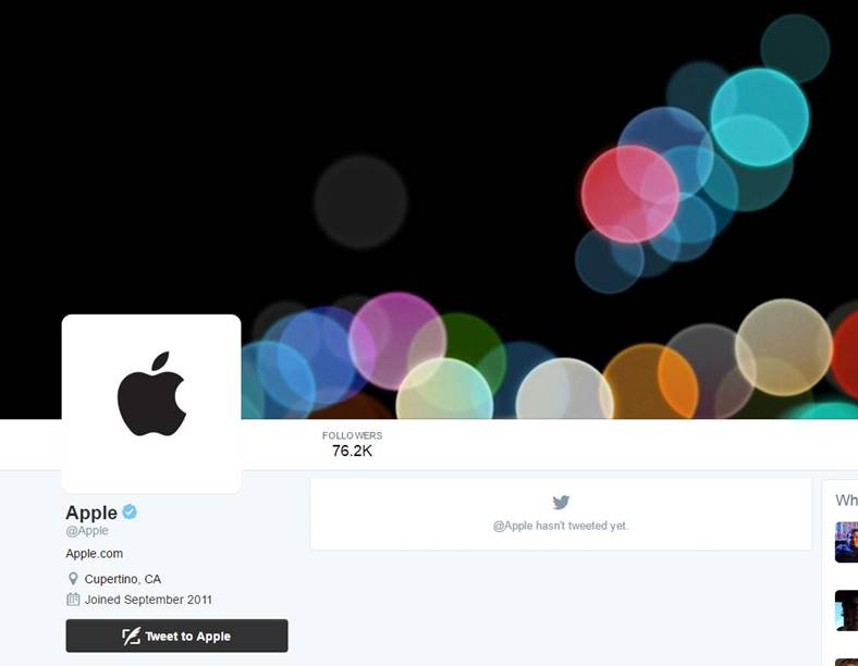 apple twitter iphone 7