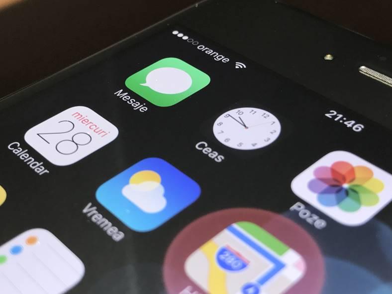 iMessage salvare date apple