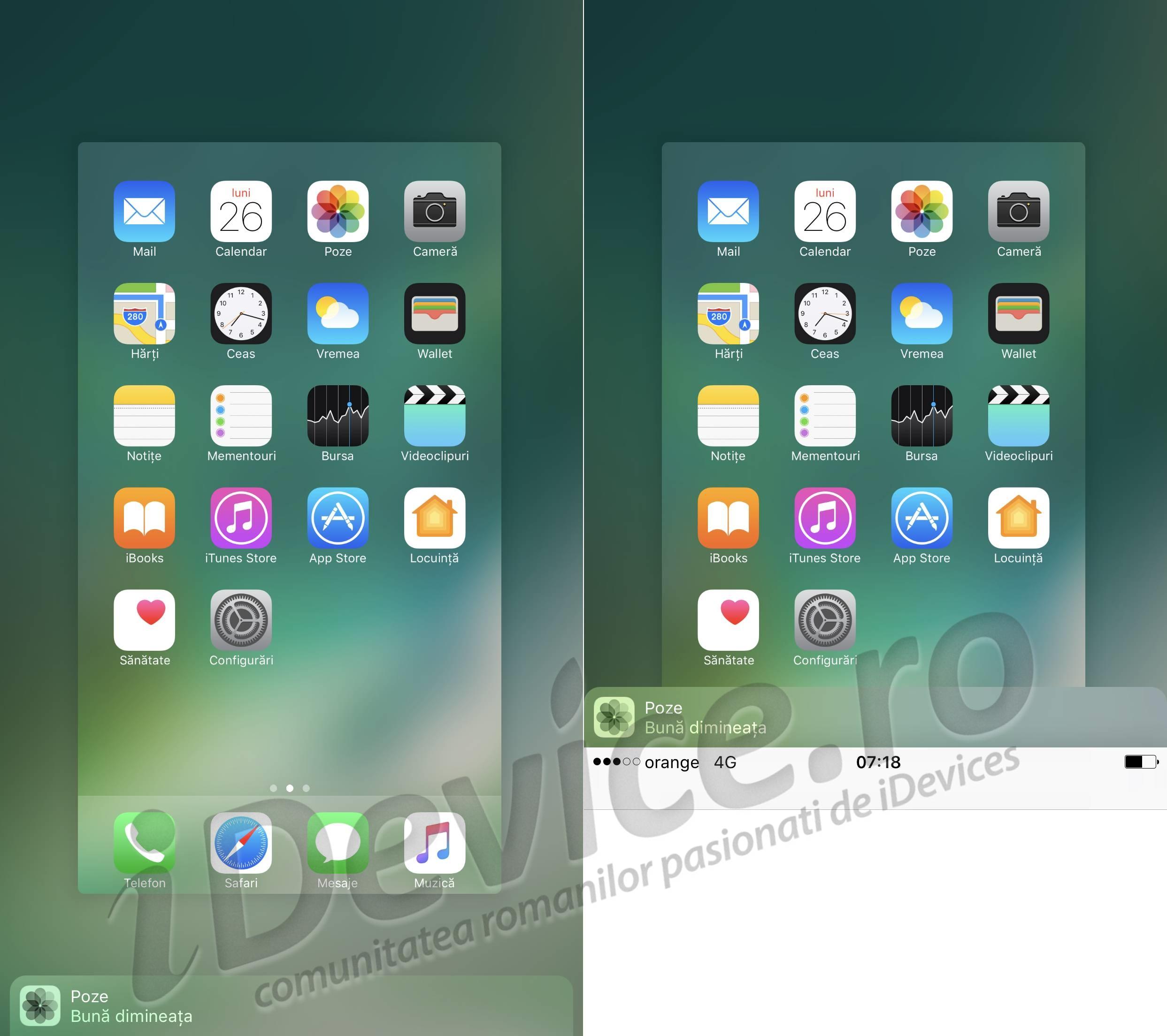 iPhone 7 iOS 10 aplicatii task switcher