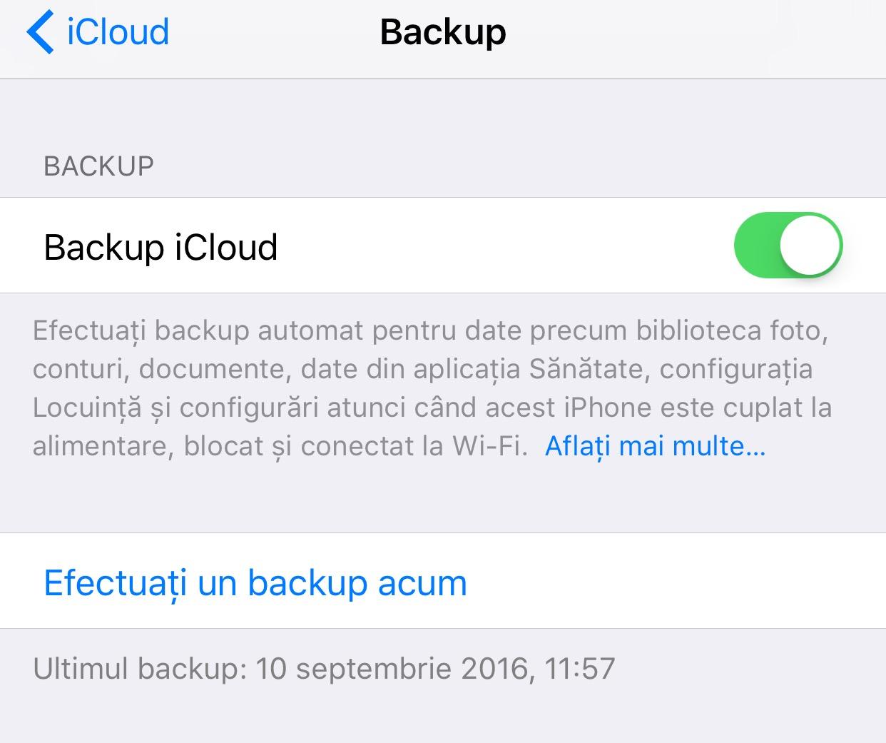 icloud backup ios 10 iphone ipad