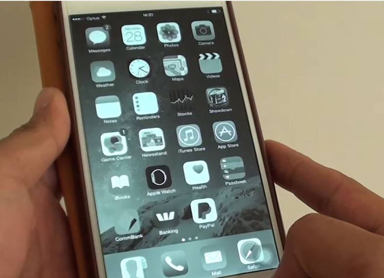 ios 10 culori ecran iphone