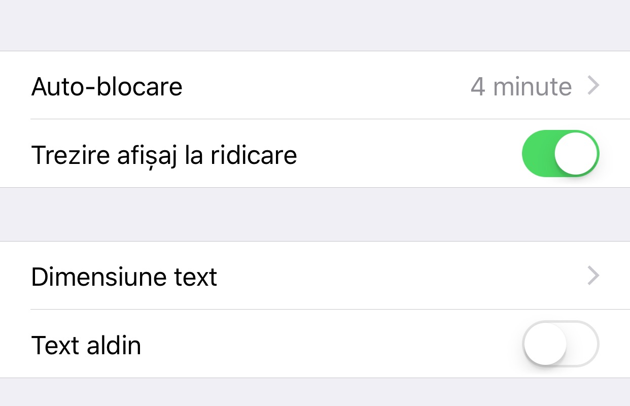 ios 10 dezactivare raise to wake trezire la ridicare