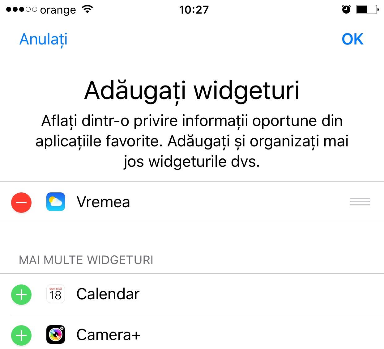 ios 10 dezactivare widget