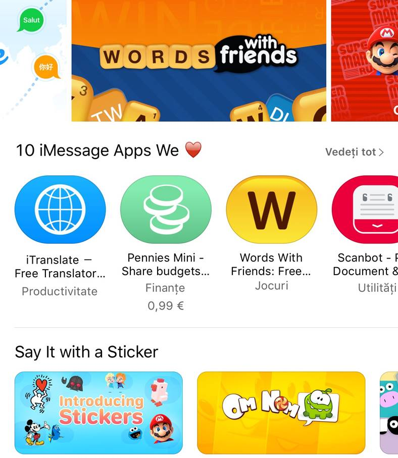 ios 10 messages appstore