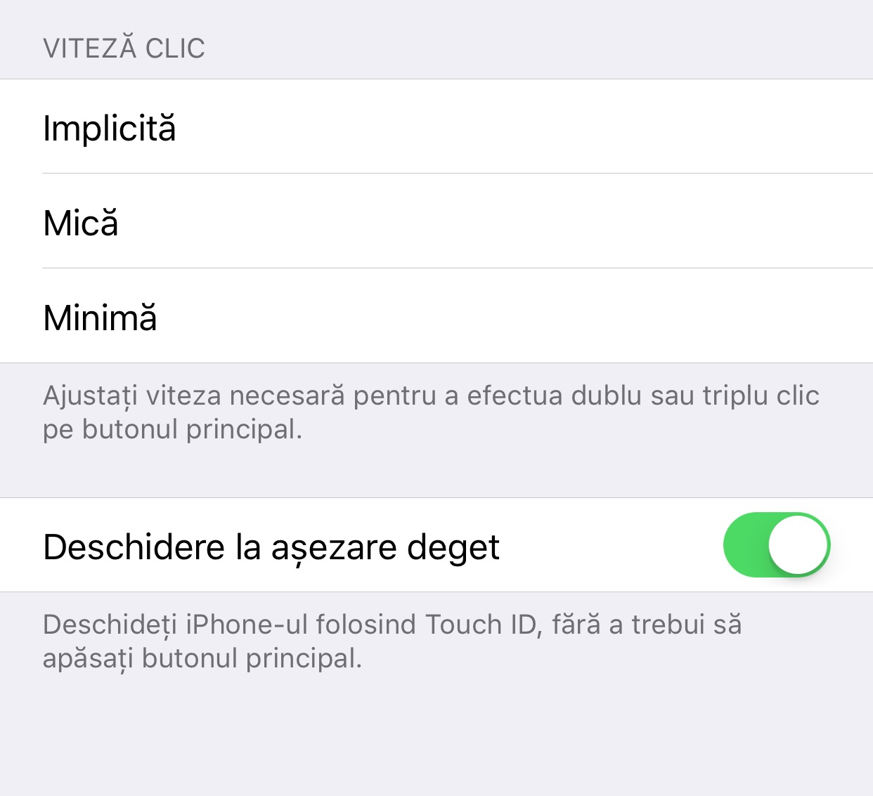 ios 10 rest finger to unlock, Deschidere la asezare deget