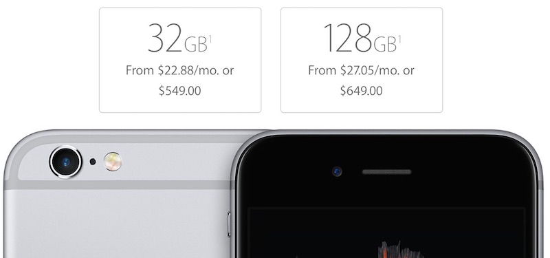 With the new storage options come new, lower prices as well. For the iPhone 6s, the 32GB tier is priced at $549.00 while the 128GB tier is priced at $649.00. Previously, the 4.7-inch iPhone 6s ran for $650 (16GB), $750 (64GB), and $850 (128GB), so the barrier for entry has been noticeably lowered this year.   Although slightly higher in price thanks to its size and camera features, the iPhone 6s Plus has received a discount in price as well. The 32GB tier will cost those interested $649.00 and the 128GB tier costs $749.00. For the larger iPhone, that's a big difference from the $750 (16GB), $850 (64GB), and $950 (128GB) options that launched last year.
