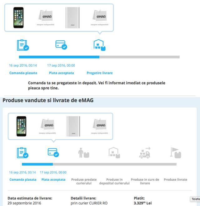 iphone 7, emag modificare data livrare