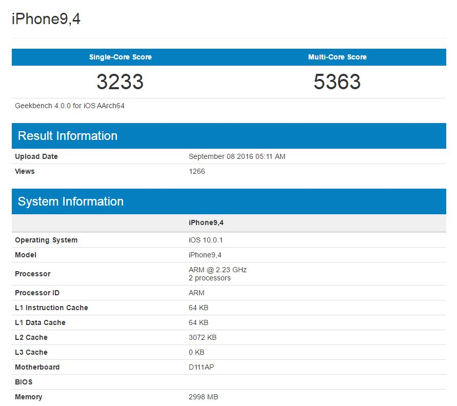 iphone 7 plus 3 gb ram
