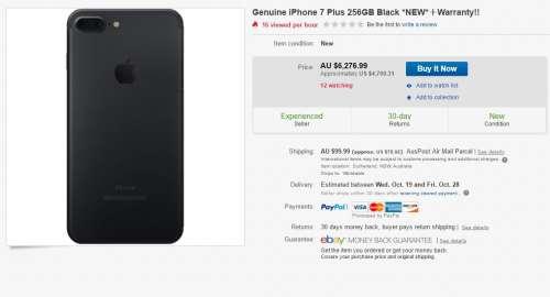 iphone 7 plus 4700 dolari