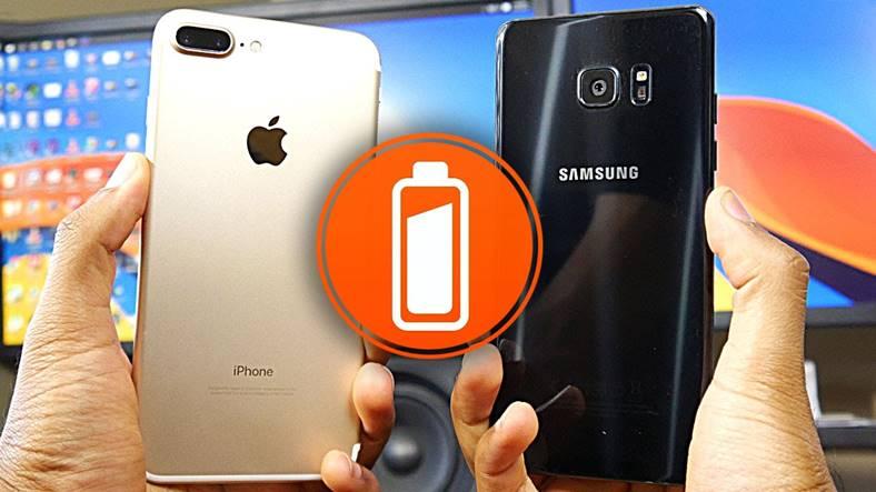 iphone 7 plus galaxy note 7 autonomie baterie