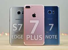 iphone 7 plus galaxy s7 edge note 7