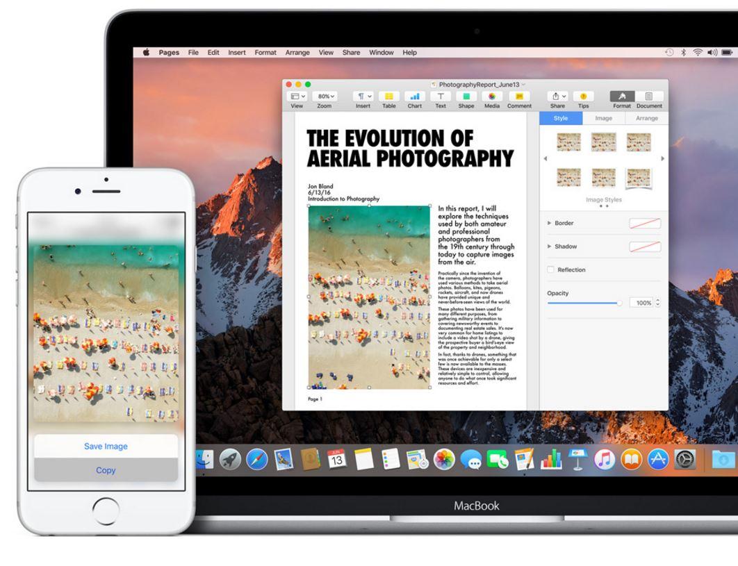 macOS SIerra Clipboard Universal