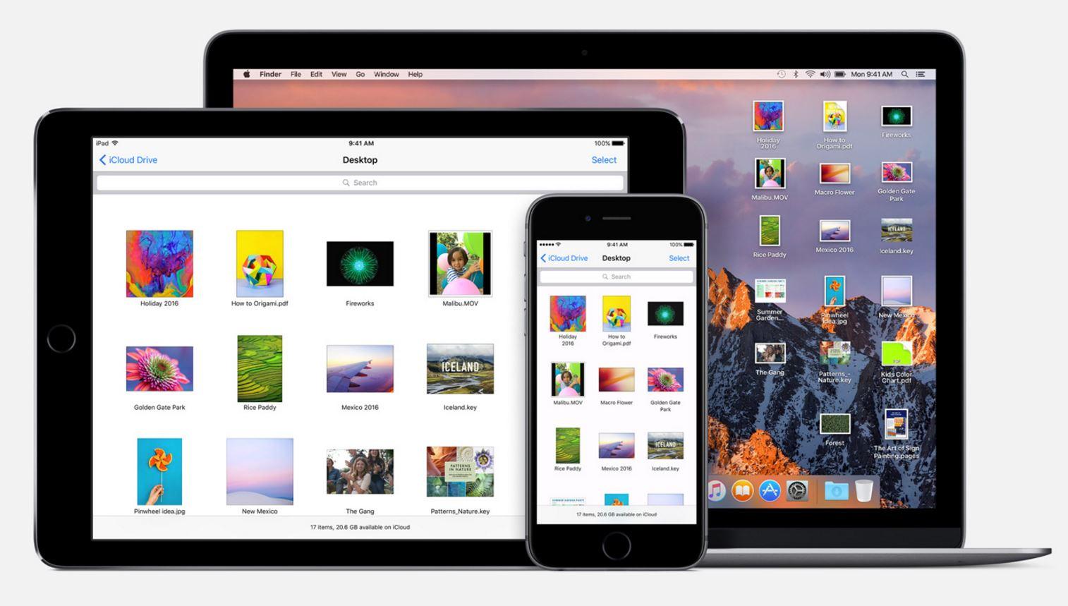macOS Sierra iCloud Drive fisiere