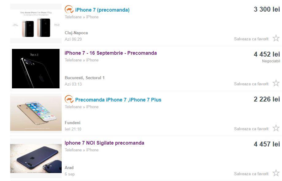 precomanda iphone 7 olx.ro