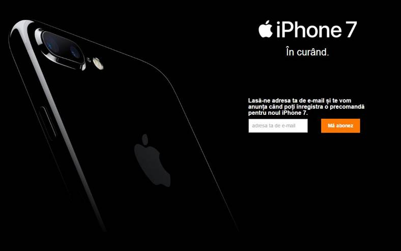 precomanda iphone 7 orange