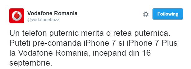 precomanda iphone 7 vodafone