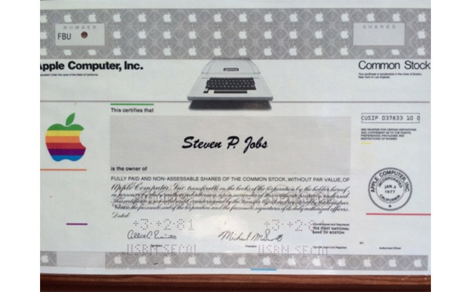 steve jobs certificat actionar