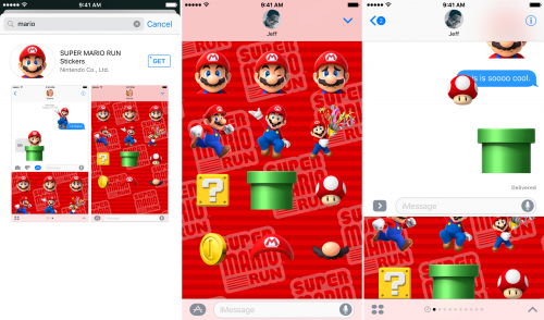 super mario run sticker ios 10