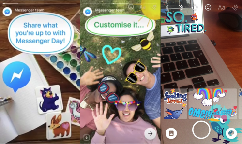 Messenger Day facebook clona snapchat stories
