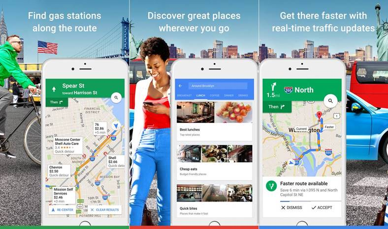 Google Maps navigatie iphone ipad