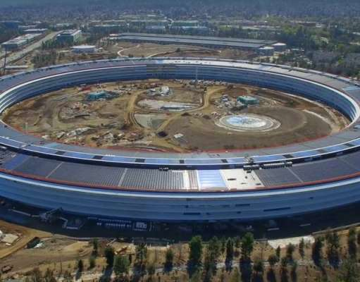 apple park video drona